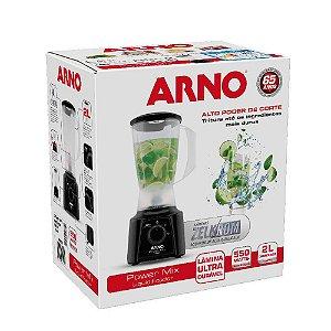 Liquidificador 2 Velocidades Preto 127V - Arno Power Mix