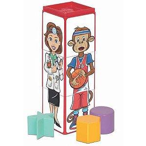 Brinquedo Cubinhos 4 em 1 Expressoes - Mercotoys