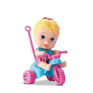 Boneca Triciclo Menina Little Dolls Playground - Diver Toys