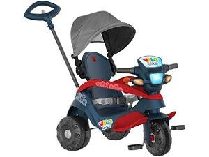Triciclo Infantil Velobaby com Empurrador e Capota - Bandeirante