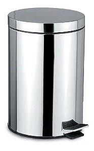 Lixeira Inox Com Pedal 5 Litros - Kehome
