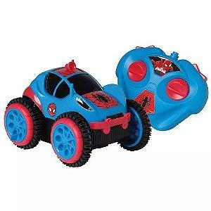 Carrinho de Controle Remoto Spider Flip Spider-Man