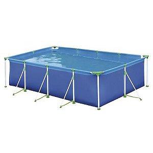 Piscina 5000 Litros Retangular Premium Azul - Mor