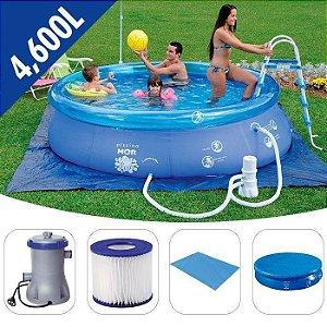 Piscina Splash Fun 4.600 Litros Combo (capa+forro+filtro 110V) Mor