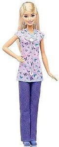 Barbie Enfermeira Boneca Linha Profissões Original - Mattel