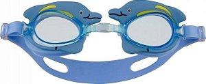 Óculos de Natação Antiembaçante Bichinho Golfinho Azul - Mor