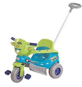 Triciclo Motoca Com Som Tico Tico Velo Toys Azul - Magic Toys