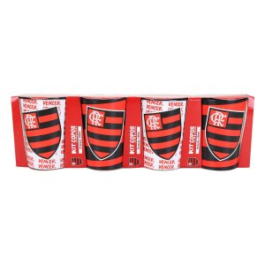 Conjunto de Copos Flamengo Plástico 450 ml - ALLMIX