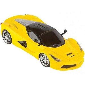Carrinho com Controle Super Carros Amarelo -  Fenix