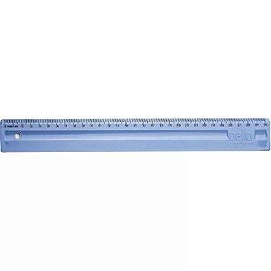 Régua em poliestireno 30 cm Azul Pastel - Dello