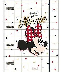 Caderno Argolado Cartonado Minnie - Tilibra