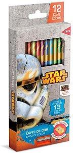 Lapis de cor com 12 - Stars Wars - TRIS