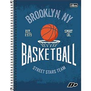 Caderno Universitário Capa Dura 10x1 200 Folhas Basket Ball D+ Masculino - Tilibra