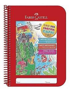 Caderno Criativo Vermelho UNIV.1X1 96FLS - Faber Castell