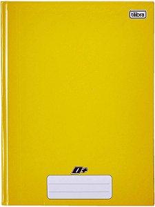 Caderno Brochura Univ. Capa Dura 96 Fls D+ amarelo Tilibra