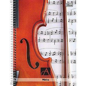 Caderno Universitário Capa dura Academie Pauta Musical Violino - Tilibra
