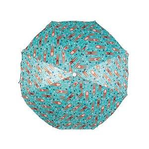 Guarda-Sol Fashion 1,60m Estampa Ciano - Mor