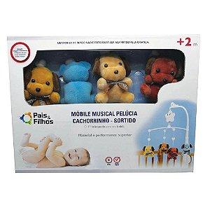 Mobile Musical Pelucia Cachorrinho - Pais e Filhos