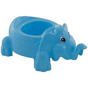 Troninho Infantil Penico Bebê Elefante Azul