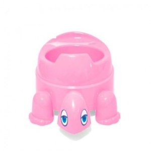 Troninho Infantil Penico Bebê Tartaruga Rosa