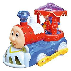 Trenzinho carrossel bate e volta - Dm Toys