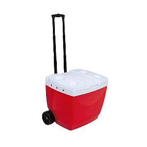 Caixa Térmica 42 litros com Roda Vermelha MOR