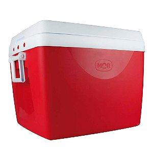 Caixa Térmica com Divisória e Alças Laterais 75 Litros Vermelha Mor