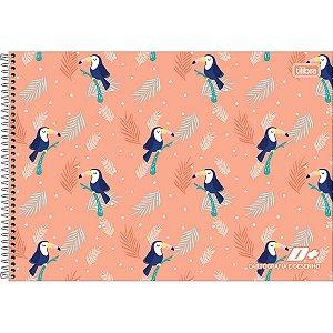 Caderno de Cartografia e Desenho Tucano Espiral Capa Dura D+ Feminino 96 Folhas - Tilibra