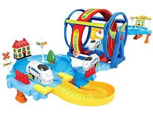 Trenzinho Looping com Acessórios - Braskit