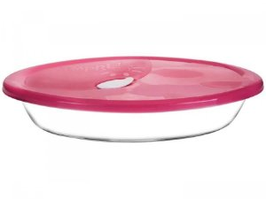 Assadeira Oval Sempre com Tampa 6514 2,5 litros - Nadir Figueiredo cor: Rosa