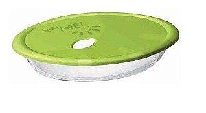 Assadeira Oval Sempre com Tampa 6514 2,5 litros - Nadir Figueiredo cor: Verde