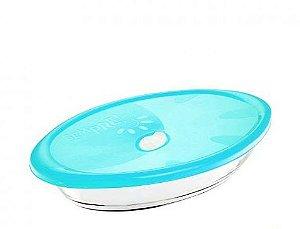 Assadeira Oval Sempre com Tampa 6514 2,5 litros - Nadir Figueiredo cor: Azul