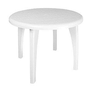 Mesa de Plástico Redonda Desmotável Mariana Branca -  Antares