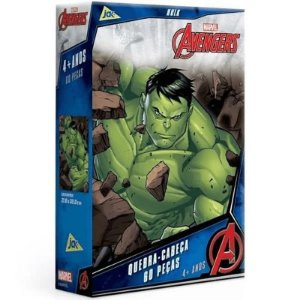 Quebra Cabeça - 60 peças - Marvel - Vingadores - Hulk - Jak