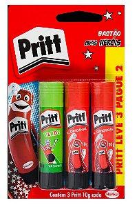 Cola bastão Pritt 10g Pritt 3 colas Henkel