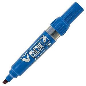 Marcador Permanente Super Color Recarregável Azul Pilot