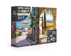Recantos italianos – Toscana e Vinha italiana – quebra-cabeça 1000 peças