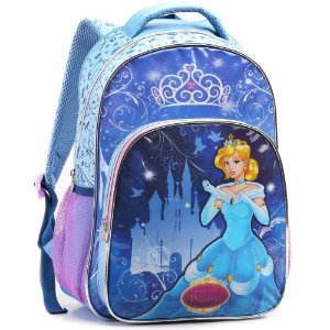 Mochila Infantil Princesa Costas Escolar Azul - Seanite