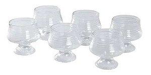 Conjunto 6 Taças de Vidro Sobremesa 250ml Crystal - Wheaton