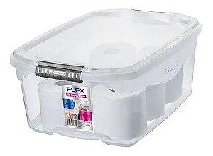 Caixa Organizadora Plástico Baixa 20 L Flex Sanremo