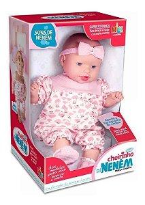 Boneca Bebe Grande Menina Mariah Chora E Da Risadinhas - Milk