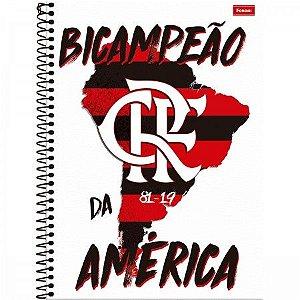 Caderno Flamengo Bicampeão 10 Matérias 200 FLS - Foroni