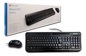Teclado e Mouse Microsoft Wired Desktop 600 Multimídia