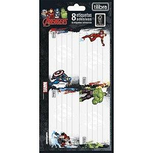 Etiqueta Escolar Adesiva Avengers - Tilibra