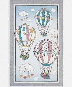 Toalha De Banho Felpuda Estampada Balões 70cm x 1,15cm - Döhler