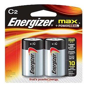 Pilhas Max C2 Alcalínas Cartela Com 2 Pilhas Energizer