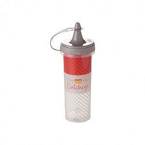 Bisnaga de Plástico 250 ml para Ketchup Cinza - Plasutil