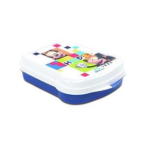 Sanduicheira de Plástico com Tampa Fixa Mickey - Plasutil
