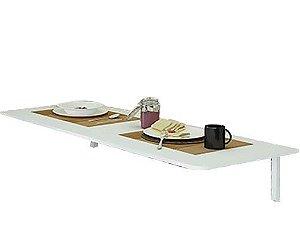 Mesa para Cozinha Dobrável com Suporte Branca (5x90x40cm) - Multivisão