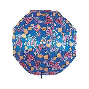 Guarda-Sol Fashion 1,60m Estampa Azul Marinho - Mor